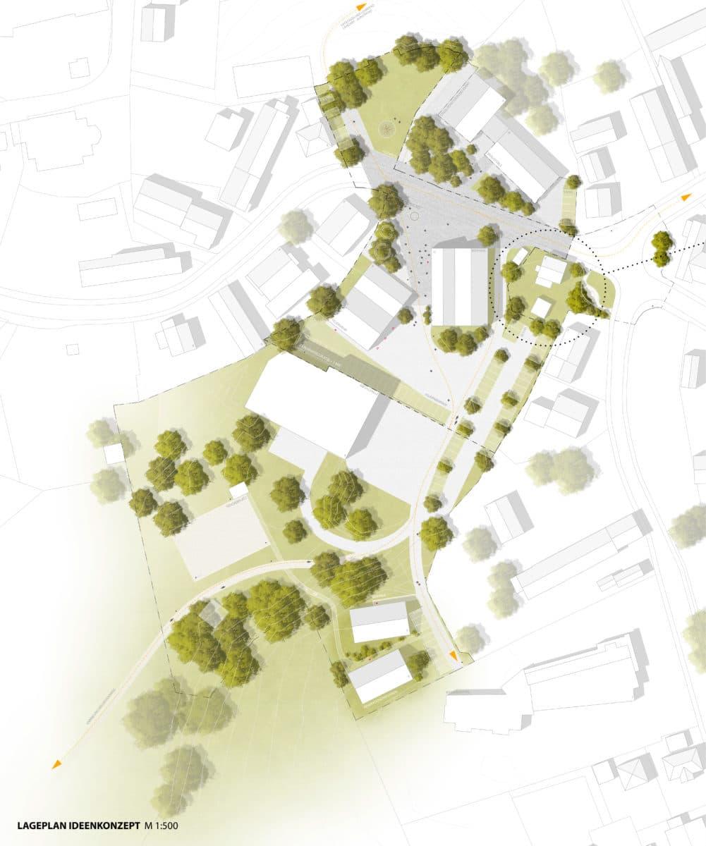 Ortsmitte Bonstetten Lageplan